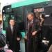 Bertrand Delanoë inaugure le minibus