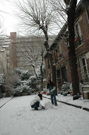 ...bonhomme de neige...