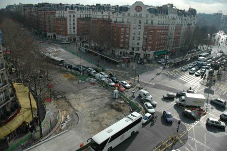 Les travaux du Tramway Porte d'Orléans