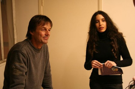 Nicolas Hulot et Natasha de Mémoire-Vive