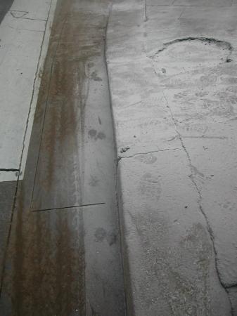 blanches poussière de trottoir