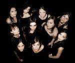 concert, les fleurs noires