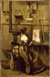 Corot Jeune femme assise devant un chevalet.jpg